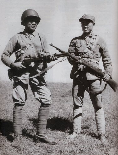 Differently Equipped Chinese Soldiers Meet In Muse Burma 1945 China