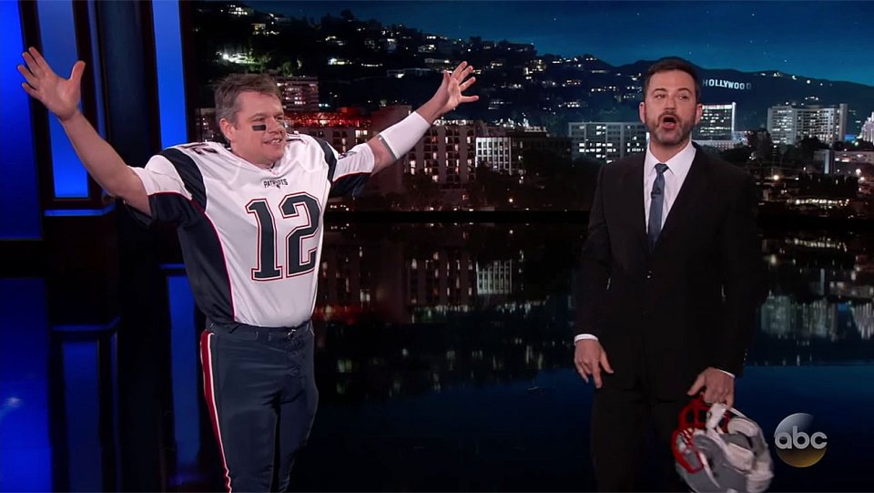 Late-Night Lately: Watch Matt Damon's triumphant visit to @JimmyKimmelLive