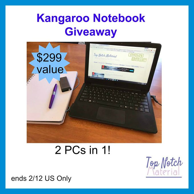 Kangaroo Notebook Giveaway (2/12 US)