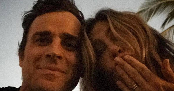 Justin Theroux posted a rare selfie with Jennifer Aniston for her 48th birthday: