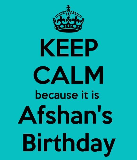 Happy Birthday Afshan     wishing you a brilliant birthday & an amazing year ahead