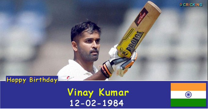 Happy Birthday Vinay Kumar. The Indian cricketer turns 33 today.
