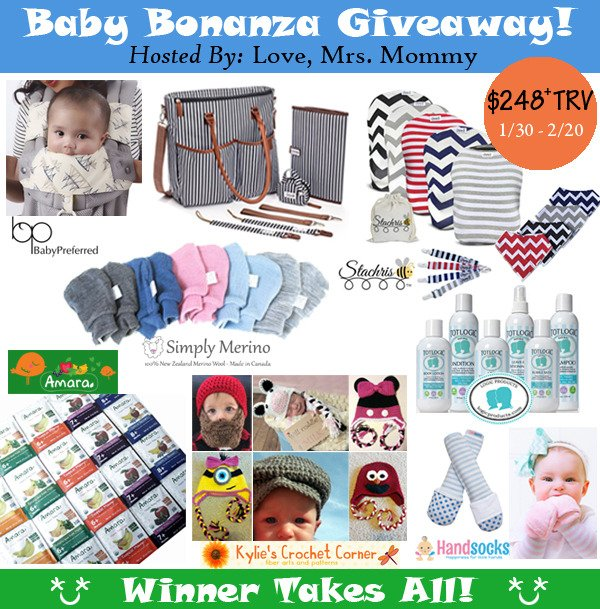Baby Bonanza Giveaway Ends 2/20