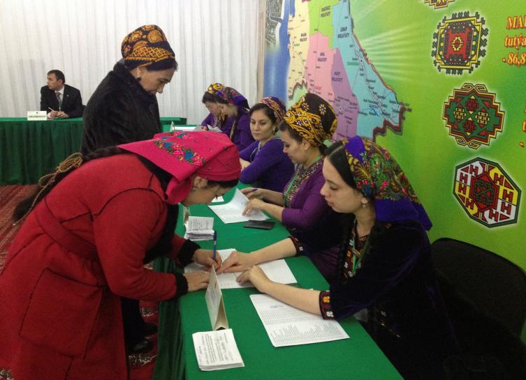 Turkmenistan leader certain to win third term in vote