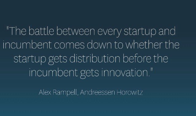 #Startups pin this #quote by @arampell of @a16z to your wall for everyone to see  No time to waste  #fintech #insurtech RT @LisaKuhnPhilips https://t.co/Ule1hu6g9f