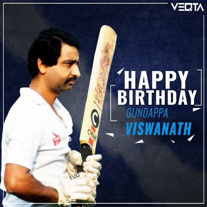 Happy Birthday to one of the finest Indian batsmen, Gundappa Viswanath!