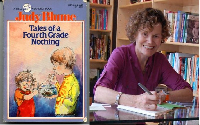 Happy Birthday. Today, Feb 12, 1938 Judy Blume, American author and educator was born.   (