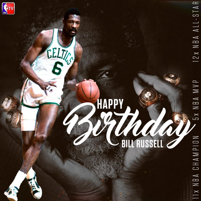 Join us in wishing Hall of Famer & legend Bill Russell a Happy 83rd Birthday!