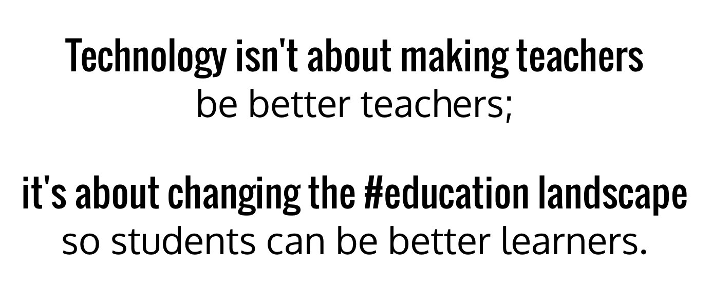 Another thought on #edtech in #education... https://t.co/cD7gywUT3f