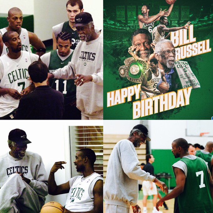 Oh yeah happy birthday to the great Bill Russell have a bless day
