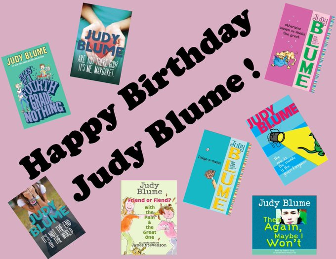 Happy birthday to author (for all ages!) Judy Blume!