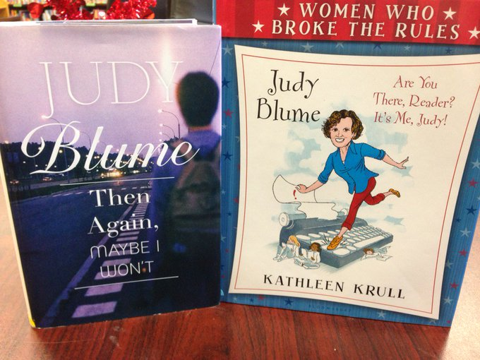 Happy Birthday Judy Blume! Stop in to the Center & browse through her books in our collection!