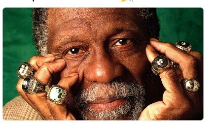 Happy birthday to the ledgen 11 times NBA champion BILL RUSSELL!!