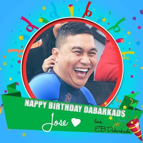 Happy Birthday, Jose Manalo.Praying for good health&happiness in life.We love YOU