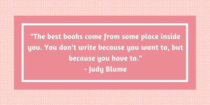 Happy birthday Judy Blume! It\s us, Dutton.