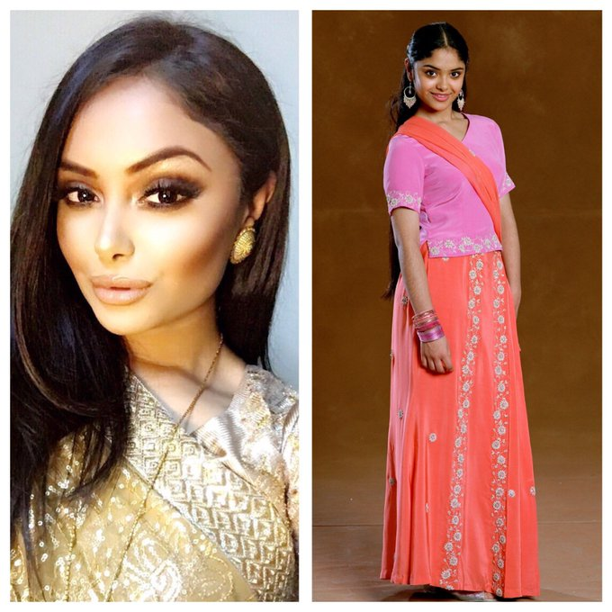 February 12: Happy Birthday, Afshan Azad ( She played Padma Patil in the films.