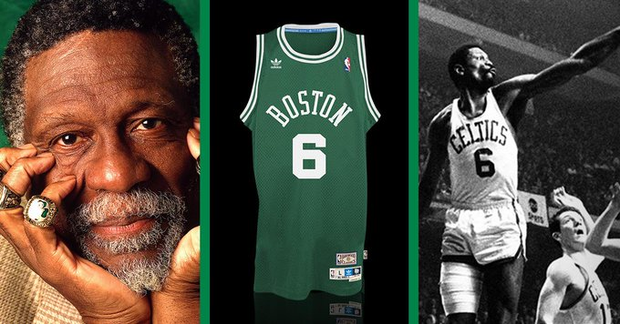 Happy Birthday, Bill Russell!  25% off his jersey:   Use code RUSS25, today only!