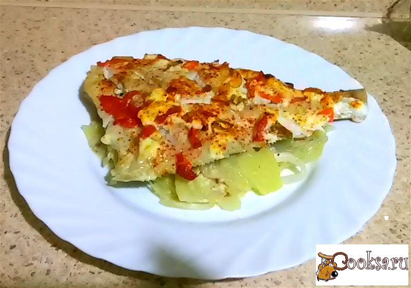 Рецепт камбала в духовке с овощами