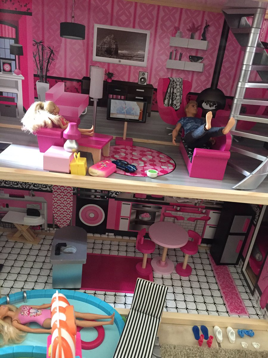 my little sister got a barbie dream house N HER ASIAN ASS MAKES ALL THE BARBIES TAKE OFF THEIR SHOES BEFORE ENTERING