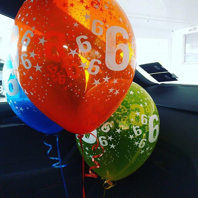 Monday 13 February, 10:35 a.m. - Got the birthday balloons for tomorrow! #happybirthdaytous