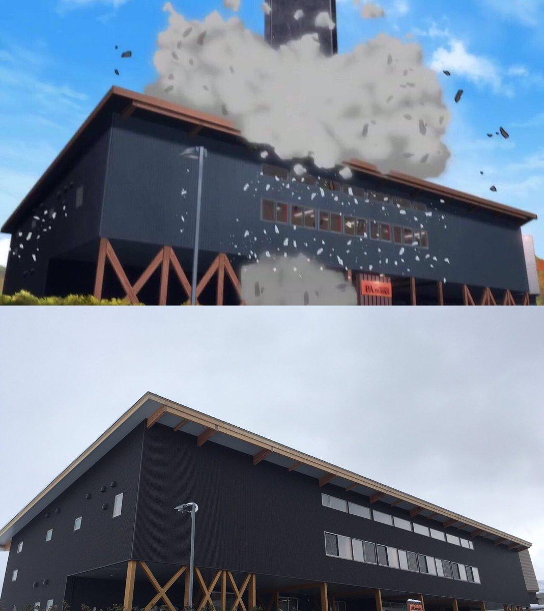 ぶっ壊されたの本社スタジオ。 #クロムクロ