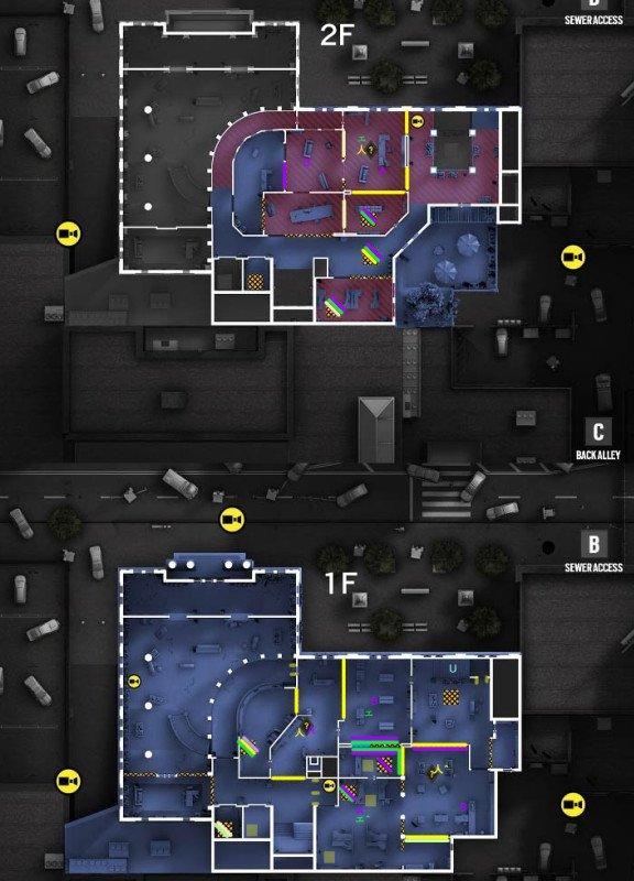 R6S、制圧拠点を基準とした自分用MAP作り始めた。無思考に対戦を重ねるよりも同じ時間でより効率的に強くなれるはず。気分