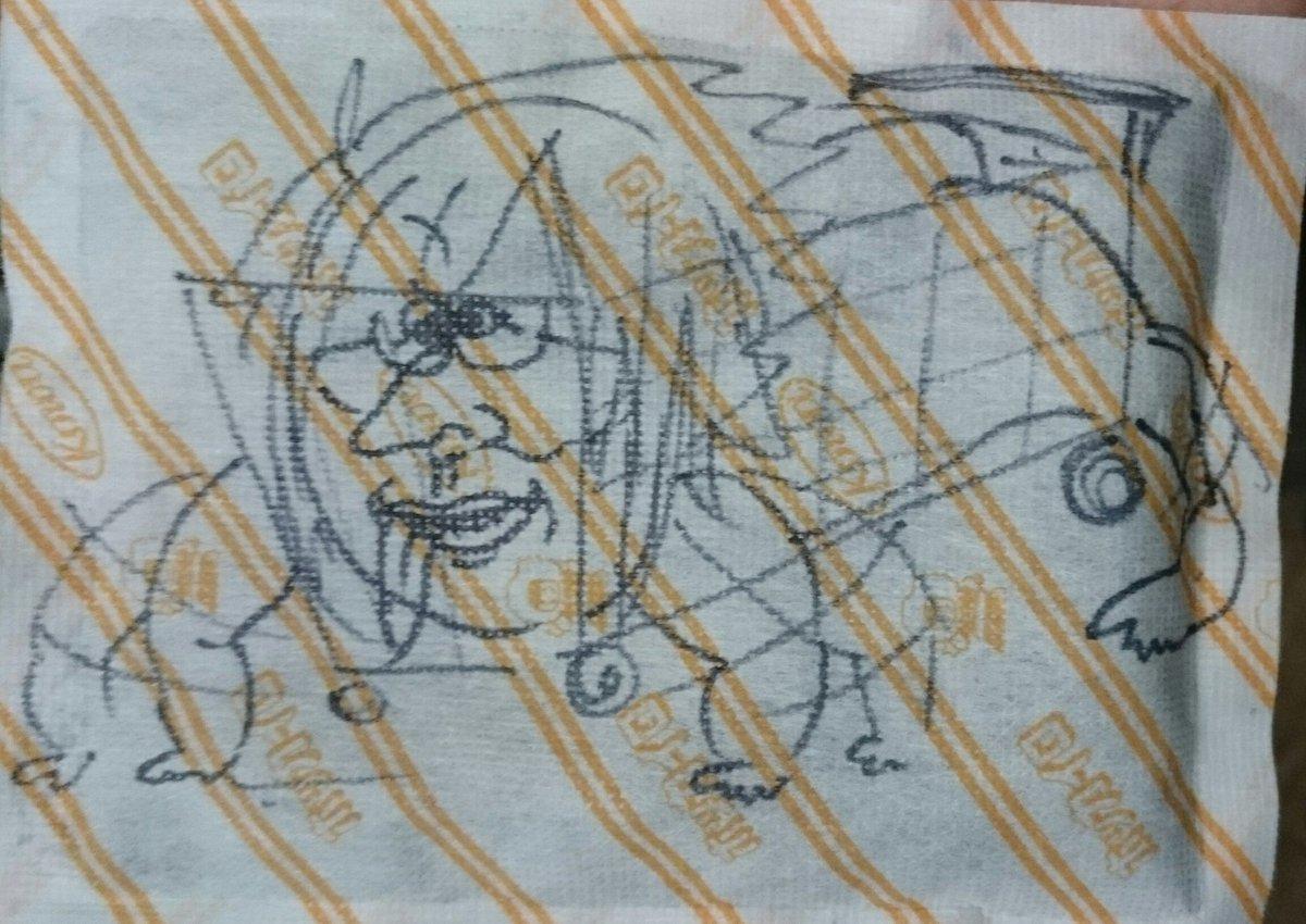 本日のカイロそらたろお絵描きお題、ヤマさんとゴーカート(※カートになってます)、Re:valeと環が学園ハンサムVer.