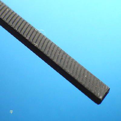 スジボリ堂 微美鬼斬(平)    より細く、より小回りのきくヤスリ、微細で美しい切削肌、削るのではなく切れる極細の単目ヤ