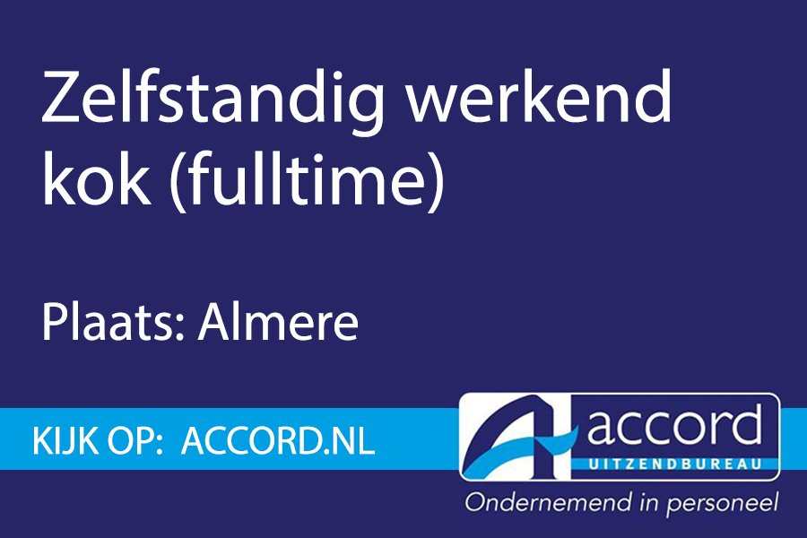 test Twitter Media - #Vacature: Zelfstandig werkend kok in Almere. https://t.co/LPhcTiURUo https://t.co/S7c4DVvnBF