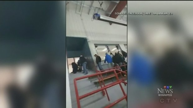 Replica gun sends hockey fans running for cover at Winnipeg arena