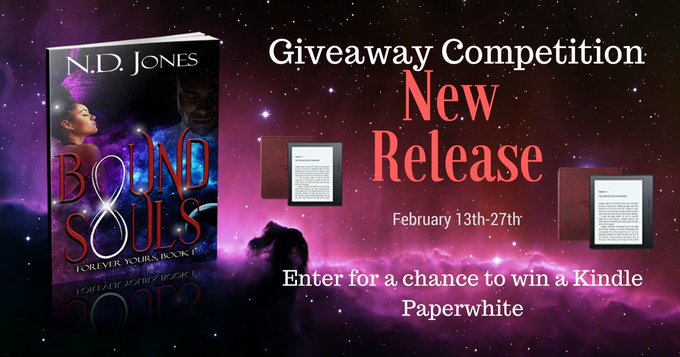 "Romance author, N.D. Jones, celebrates new release,""Bound Souls"", with a Giveaway Competition"