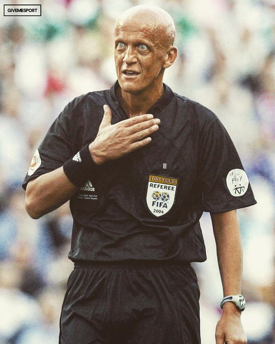 Happy birthday, Pierluigi Collina! Absolute legend.