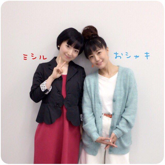 折笠富美子ちゃんとお邪魔して来ました。それぞれキャラを意識したカラーで…ありがとうございました♪ #cocotama #