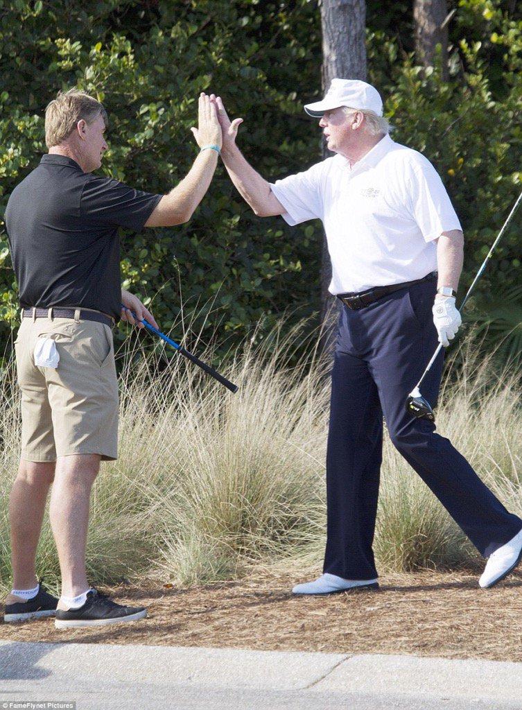 On Sunday Ernie Els played golf with Donald Trump - on Monday Trump phones Zuma. Wonder what Ernie said to Trump? https://t.co/hhwm1BJyXu