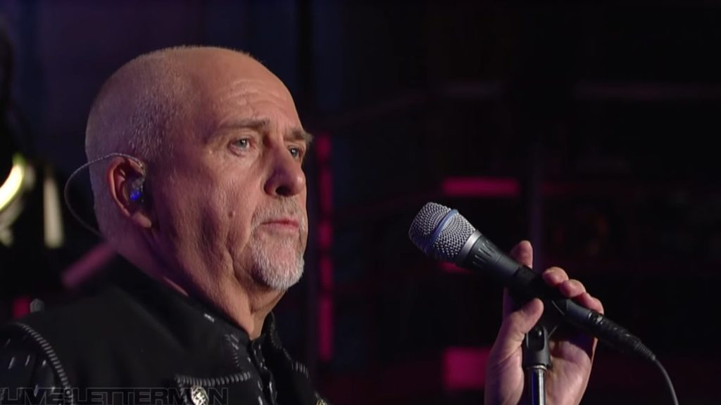 Happy Birthday Peter Gabriel: Live On Letterman In 2011  via