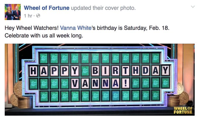 HAPPY BIRTHDAY VANNA WHITE!