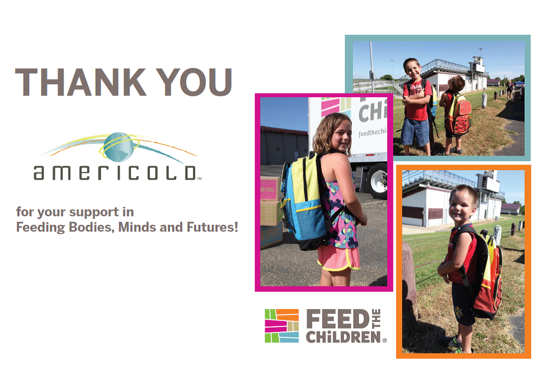Thanks @americoldtweets for helping to ship 1000s of lbs of food to kids in need. #chooselove #sharelove