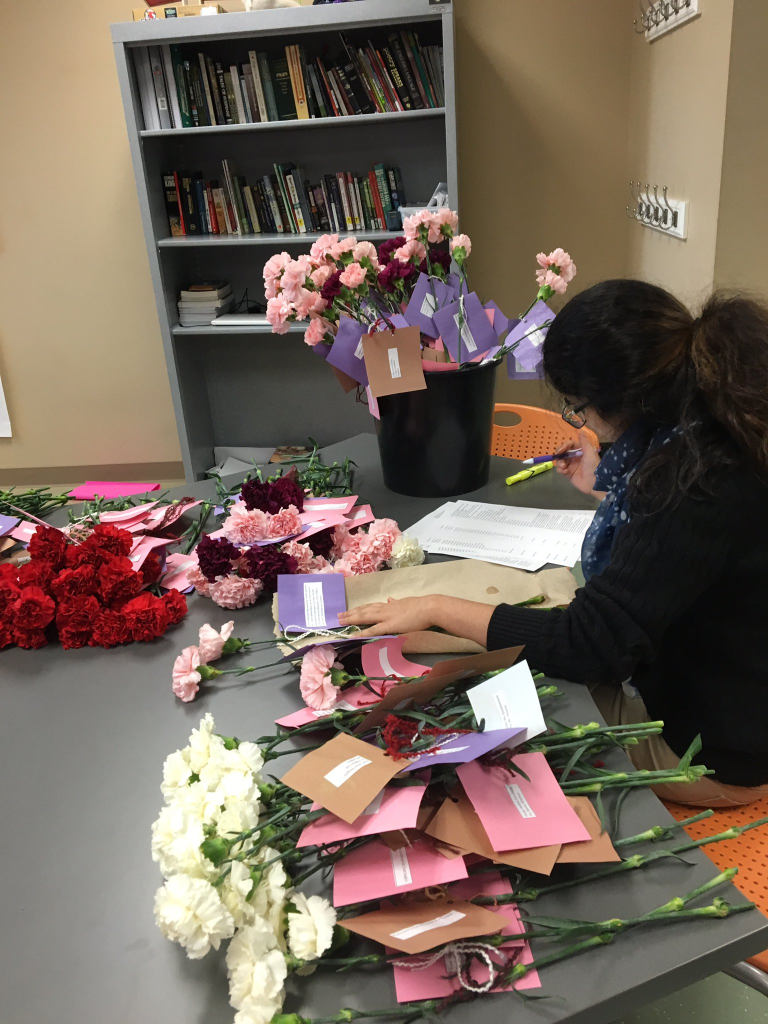 Diversity club @MrMaxMonegan prepping for our Valentine's Day deliveries #ourBMSA https://t.co/MXNYzhIOyO