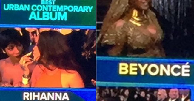 People are shocked by what Rihanna did to Beyonce at the Grammys...