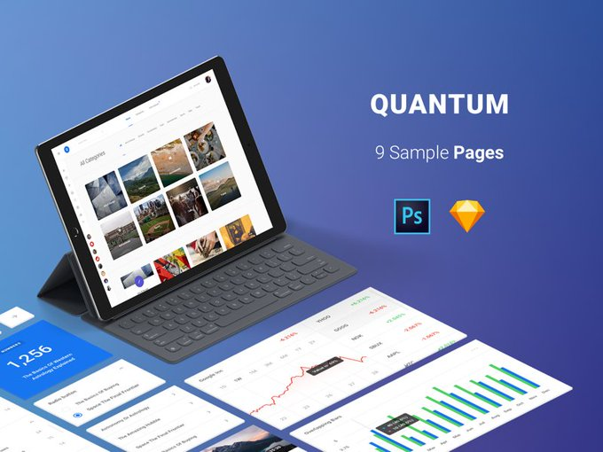 Free Pages Quantum Kit   Ui kit by Spline One freebie