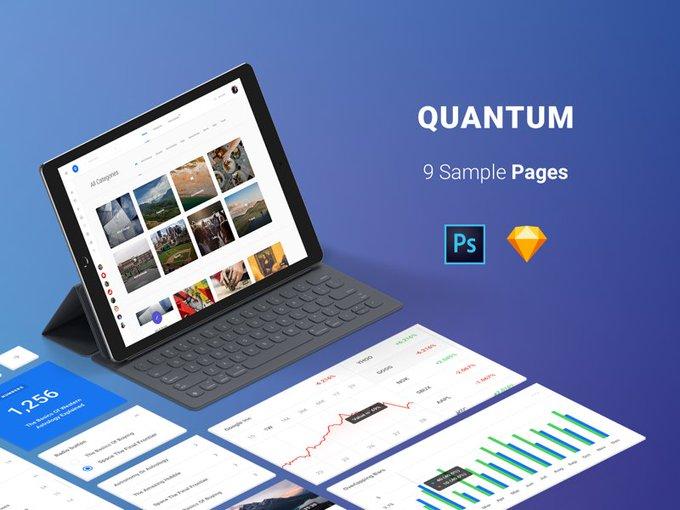 Free Pages Quantum Kit   Ui kit by Spline One freebie