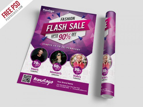 Fashion Sale Flyer Template Free PSD Flyers Print freepsd psd freebie download