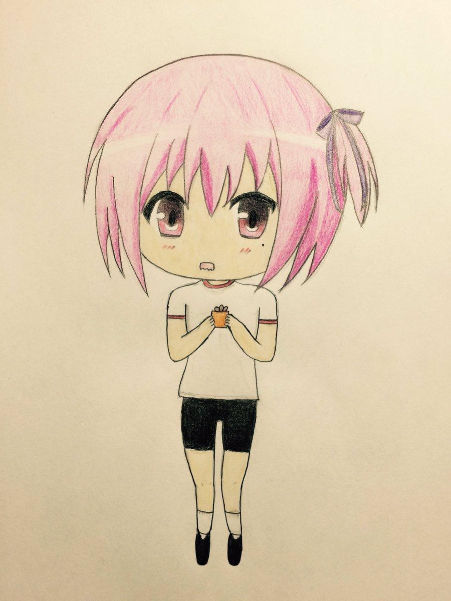 バレンタインだから昴にチョコを渡そうか迷っている智花を描きました(適当)#バレンタインデー #ロウきゅーぶ