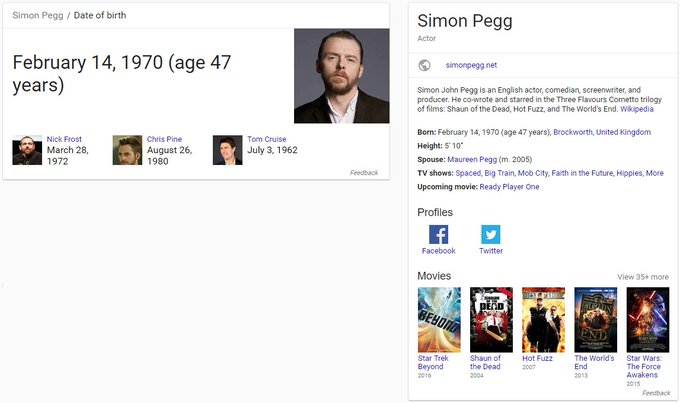 Happy Birthday Simon Pegg! Cheers! :D