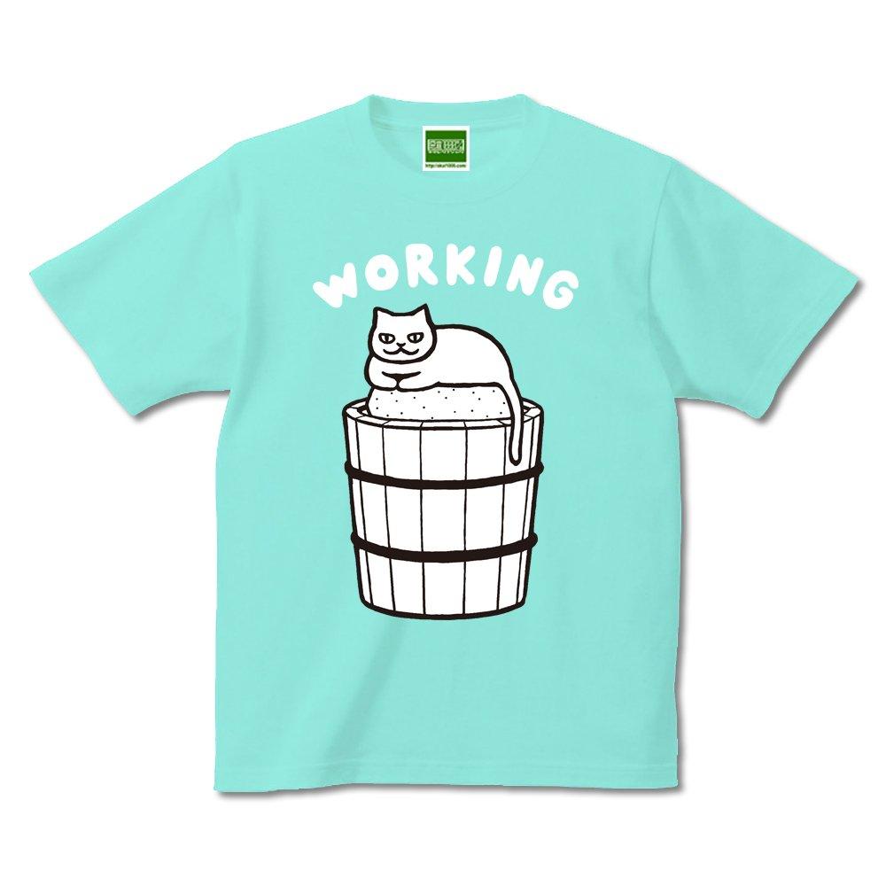 はたらいてます みずしな新作ねこTシャツ「WORKING」できました。