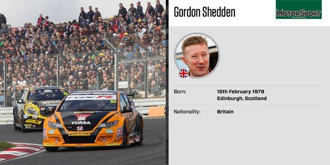 Happy Birthday to triple champion Flash Gordon Shedden, born 1979: