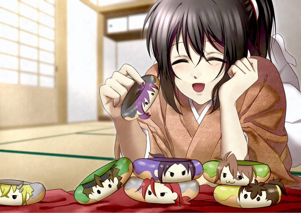 先日のどーなつの副産物です出たりしないかな…薄桜鬼どーなつ…(カラフルすぎてどーなつに見えない)ハッピーバレンタイン\(