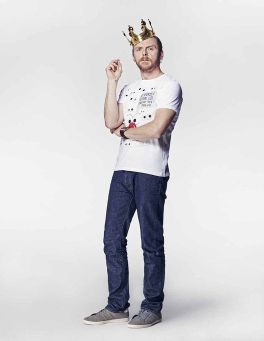 Happy birthday to the King ! Happy birthday Simon Pegg !