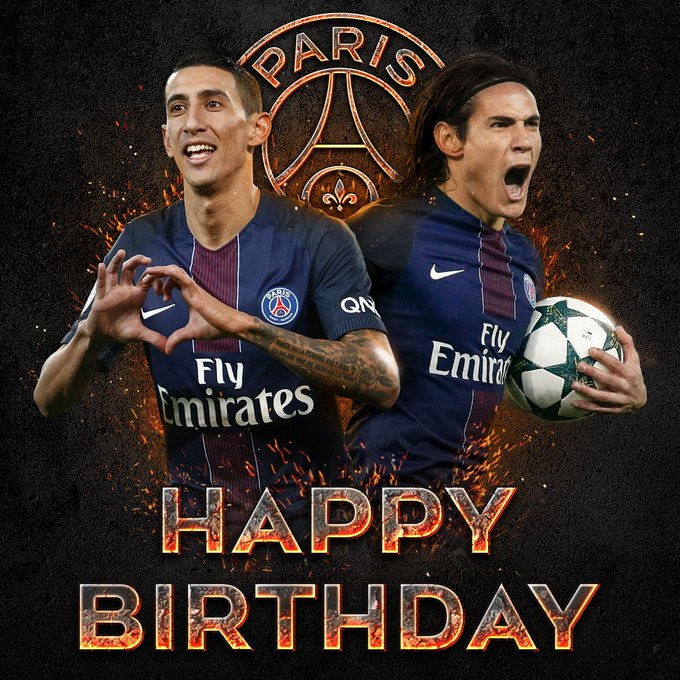 PSG wish a very happy birthday to who turns 30, and Angel Di Maria, who turns 29 today!