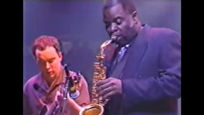 Happy Birthday Maceo Parker: With Dave Matthews Band In Chicago In 1998  via